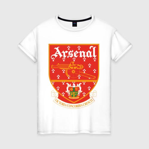 Женская футболка хлопок Арсенал Лондон