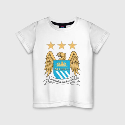 Детская футболка хлопок Манчестер Сити