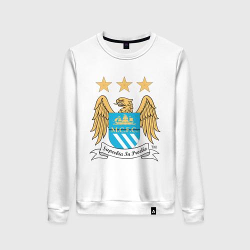 Женский свитшот хлопок Манчестер Сити