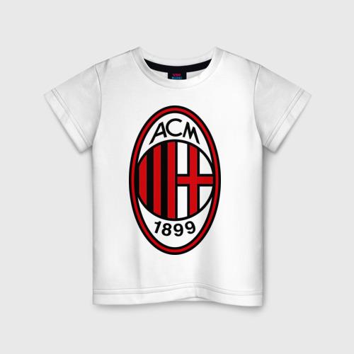 Детская футболка хлопок ФК Милан