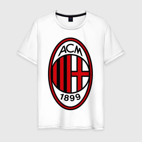 Мужская футболка хлопок ФК Милан