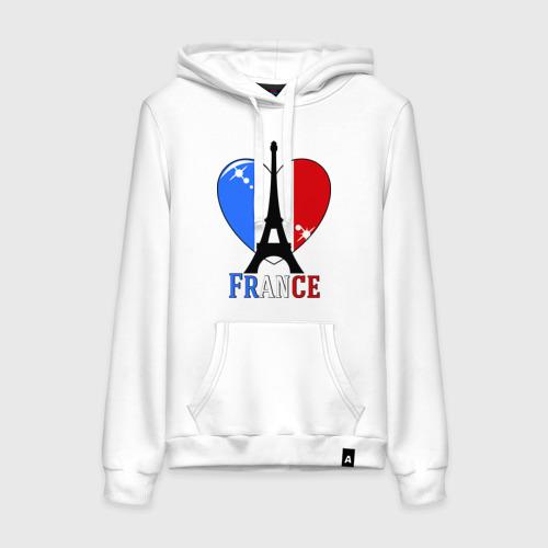 Женская толстовка хлопок Люблю Францию