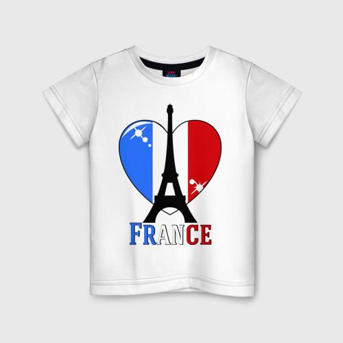 Детская футболка хлопок Люблю Францию