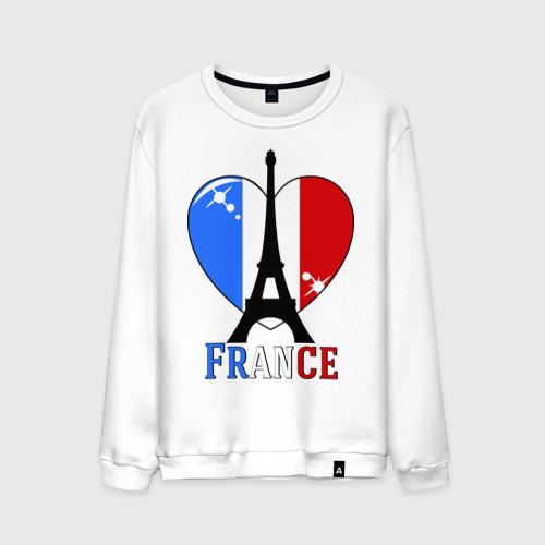 Мужской свитшот хлопок Люблю Францию