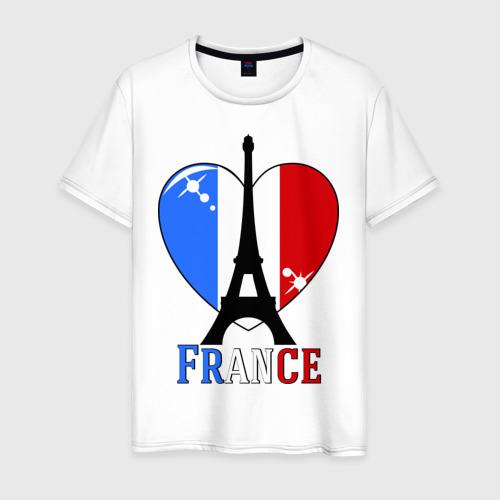 Мужская футболка хлопок Люблю Францию