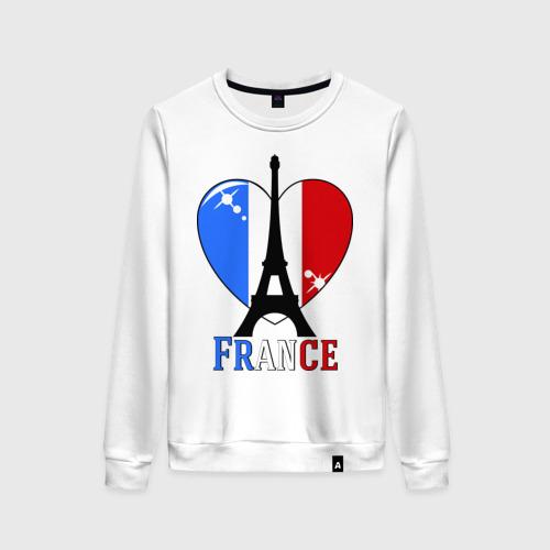 Женский свитшот хлопок Люблю Францию
