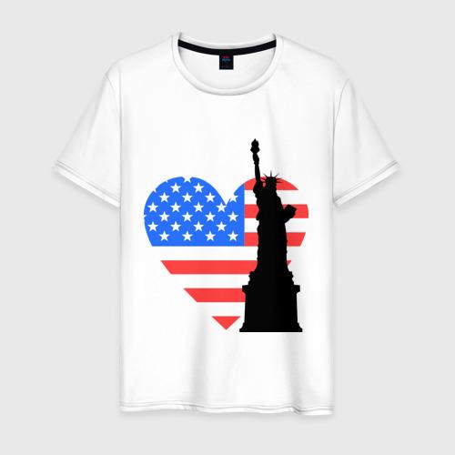Мужская футболка хлопок Люблю Америку