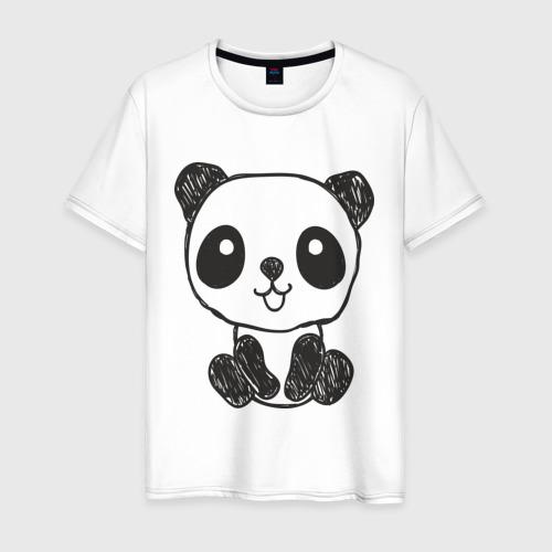 Мужская футболка хлопок Панда рисунок