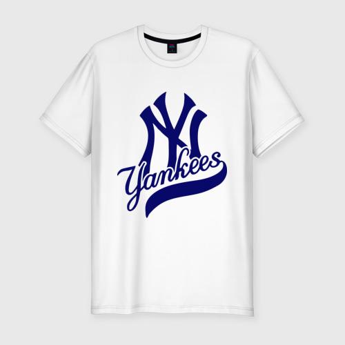 Мужская футболка хлопок Slim NY - Yankees