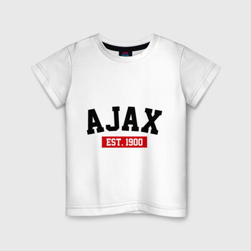 Детская футболка хлопок FC Ajax Est. 1900