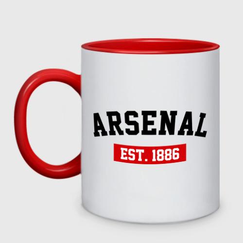 Кружка двухцветная FC Arsenal Est. 1886