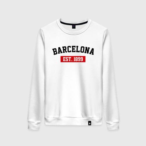 Женский свитшот хлопок FC Barcelona Est. 1899