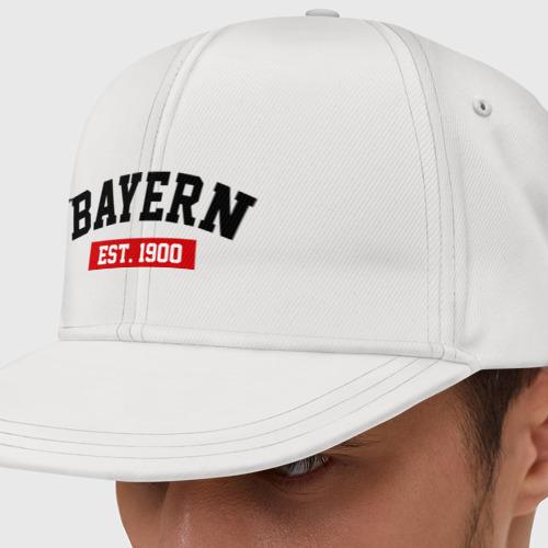 Кепка снепбек с прямым козырьком FC Bayern Est. 1900