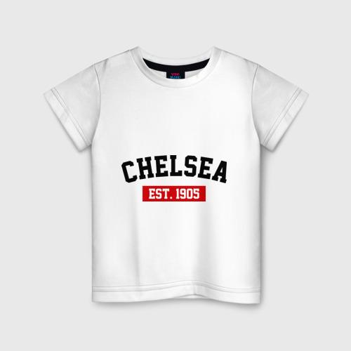 Детская футболка хлопок FC Chelsea Est. 1905
