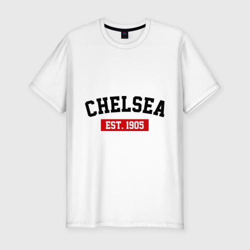 Мужская футболка хлопок Slim FC Chelsea Est. 1905