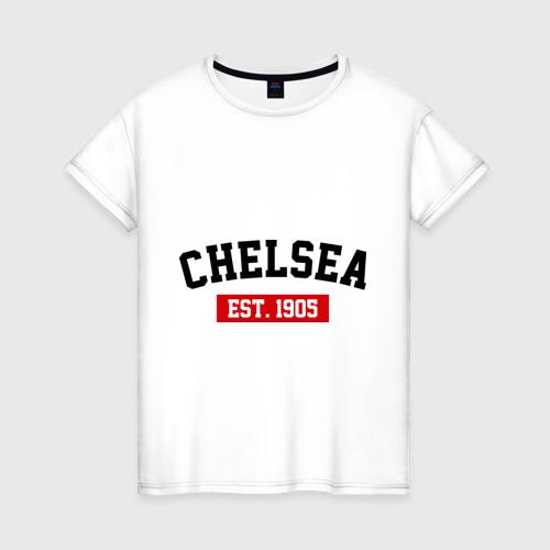 Женская футболка хлопок FC Chelsea Est. 1905