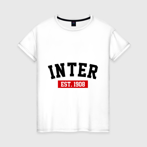 Женская футболка хлопок FC Inter Est. 1908