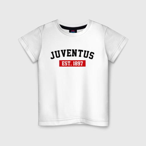 Детская футболка хлопок FC Juventus Est. 1897