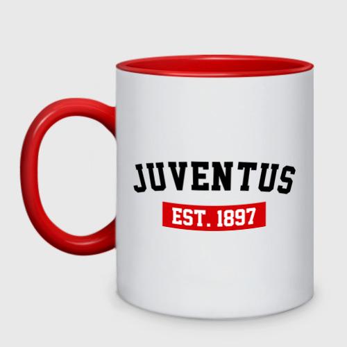 Кружка двухцветная FC Juventus Est. 1897
