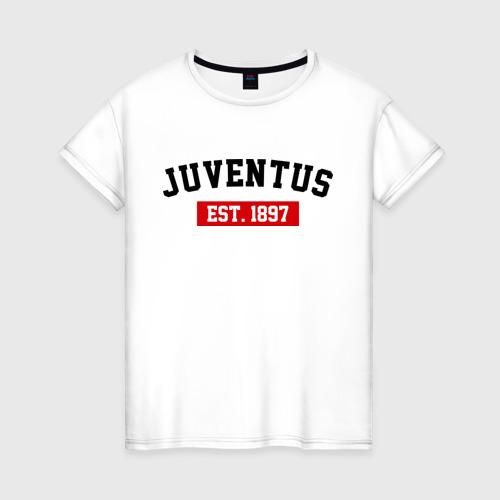 Женская футболка хлопок FC Juventus Est. 1897
