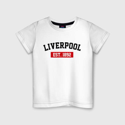 Детская футболка хлопок FC Liverpool Est. 1892
