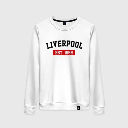 Женский свитшот хлопок FC Liverpool Est. 1892