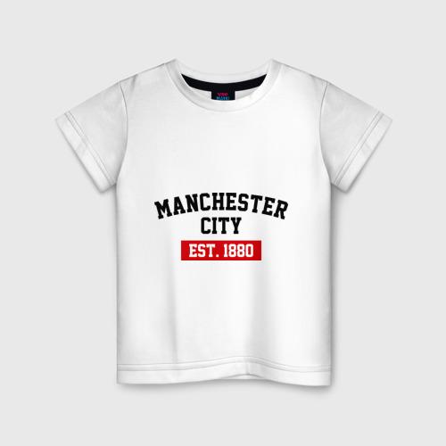 Детская футболка хлопок FC Manchester City Est. 1880