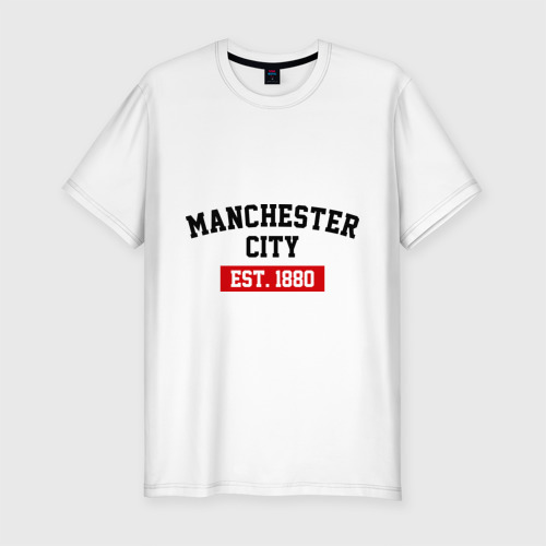 Мужская футболка хлопок Slim FC Manchester City Est. 1880