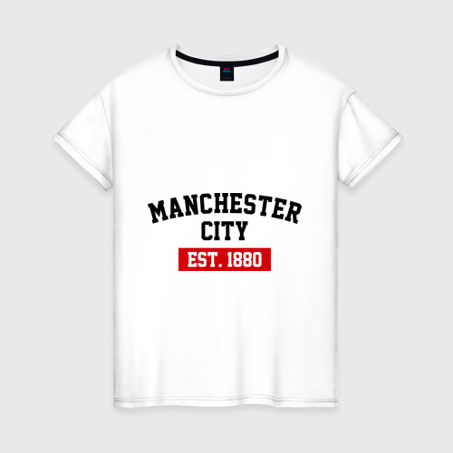 Женская футболка хлопок FC Manchester City Est. 1880