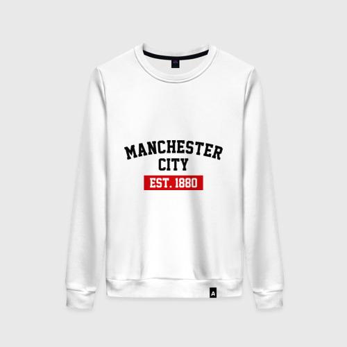 Женский свитшот хлопок FC Manchester City Est. 1880