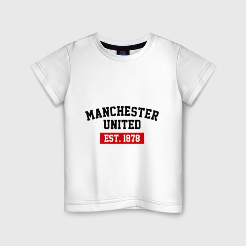 Детская футболка хлопок FC Manchester United Est. 1878