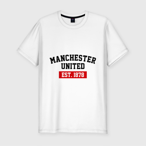 Мужская футболка хлопок Slim FC Manchester United Est. 1878