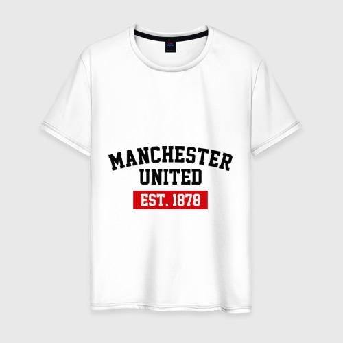 Мужская футболка хлопок FC Manchester United Est. 1878