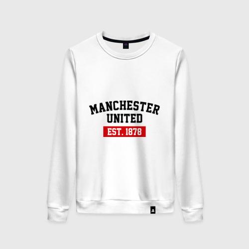 Женский свитшот хлопок FC Manchester United Est. 1878