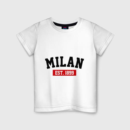 Детская футболка хлопок FC Milan Est. 1899