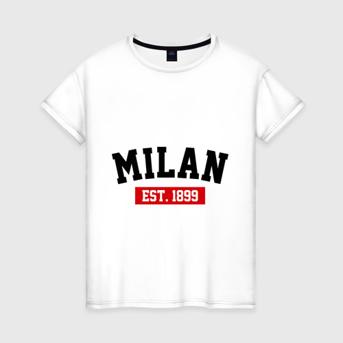 Женская футболка хлопок FC Milan Est. 1899