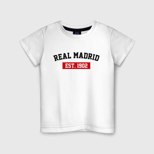 Детская футболка хлопок FC Real Madrid Est. 1902