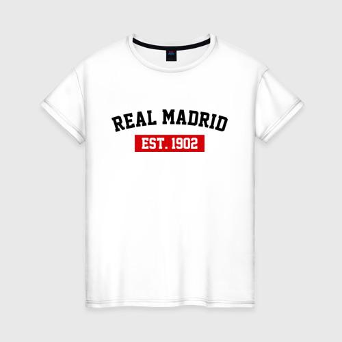 Женская футболка хлопок FC Real Madrid Est. 1902
