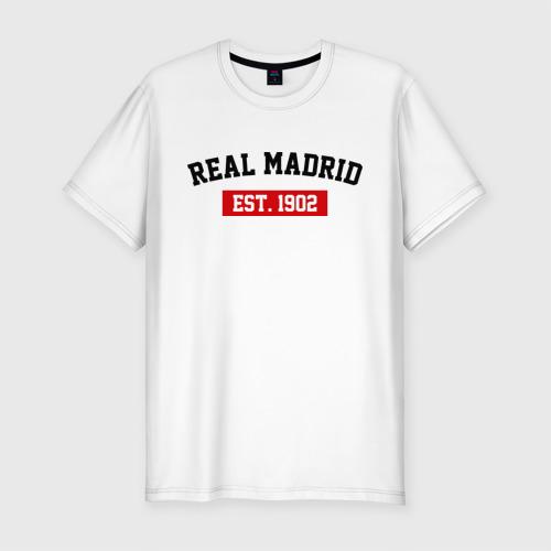 Мужская футболка хлопок Slim FC Real Madrid Est. 1902