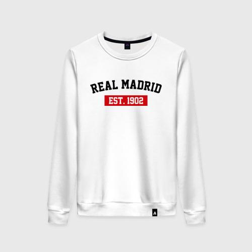 Женский свитшот хлопок FC Real Madrid Est. 1902