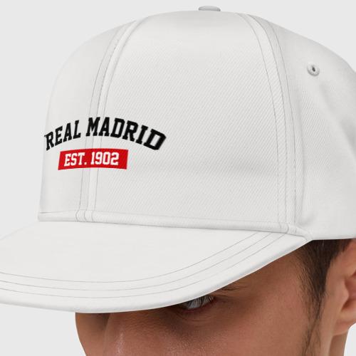 Кепка снепбек с прямым козырьком FC Real Madrid Est. 1902