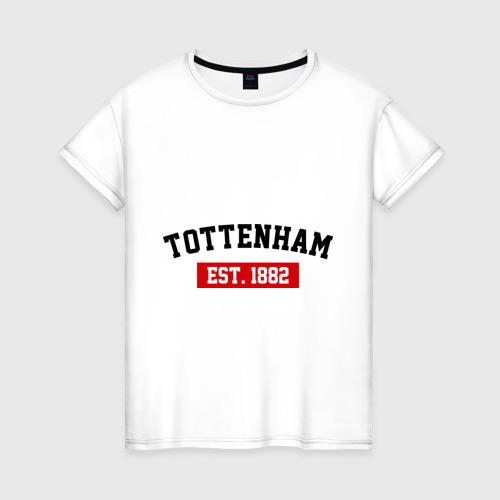 Женская футболка хлопок FC Tottenham Est. 1882
