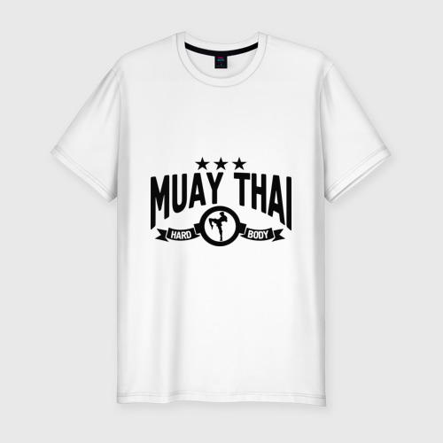 Мужская футболка хлопок Slim Muay thai boxing (Тайский бокс)