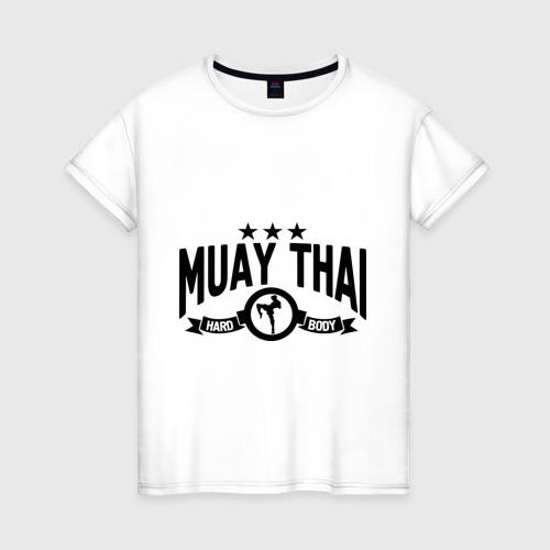 Женская футболка хлопок Muay thai boxing (Тайский бокс)