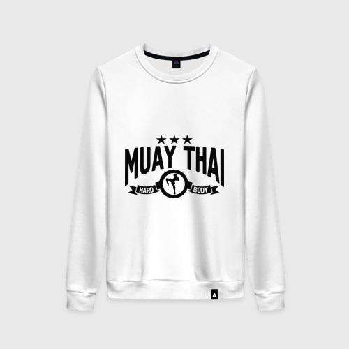 Женский свитшот хлопок Muay thai boxing (Тайский бокс)