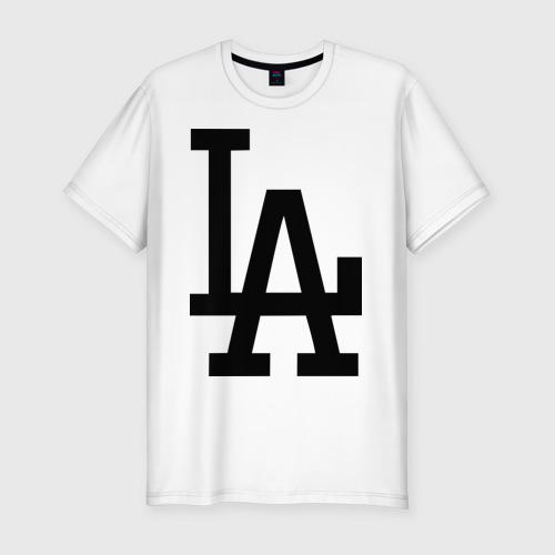Мужская футболка хлопок Slim Los Angeles