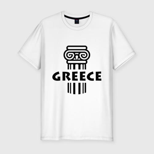 Мужская футболка хлопок Slim Греция