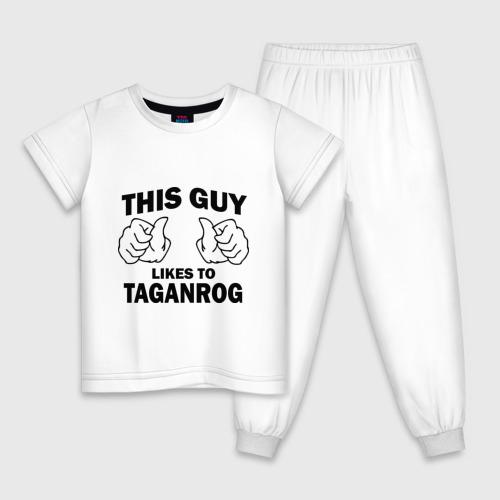 Детская пижама хлопок Этот парень любит Таганрог