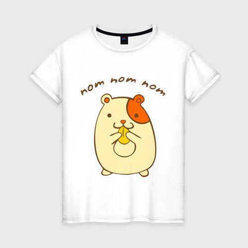 Женская футболка хлопок Ням-ням-ням