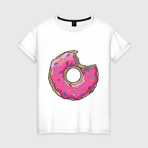 Женская футболка хлопок Пончик Гомера